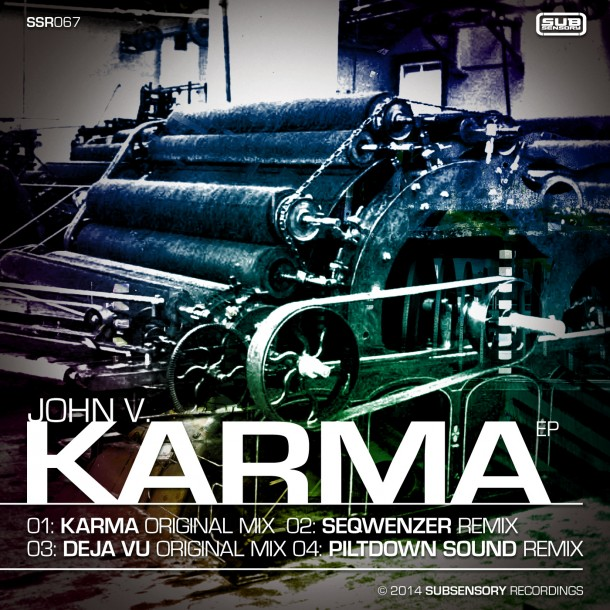 SSR067 – John V – Karma EP now available (rmx by Piltdown Sound, Seqwenzer)